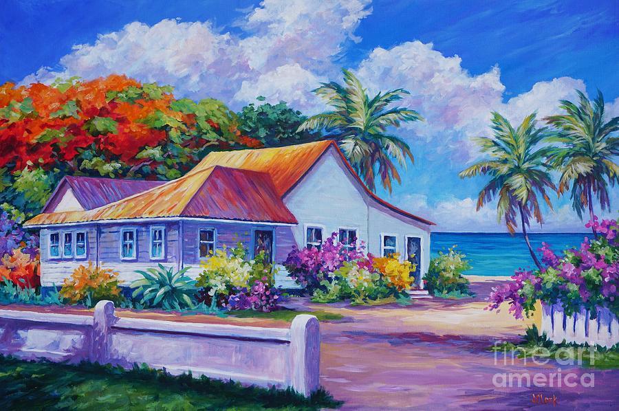 Artwork Painting - Cayman Home  by John Clark