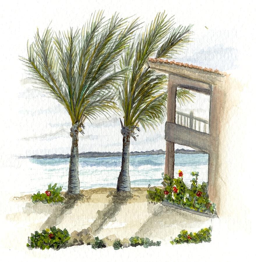Vacation Digital Art - Cayman Hotel by Darren Cannell
