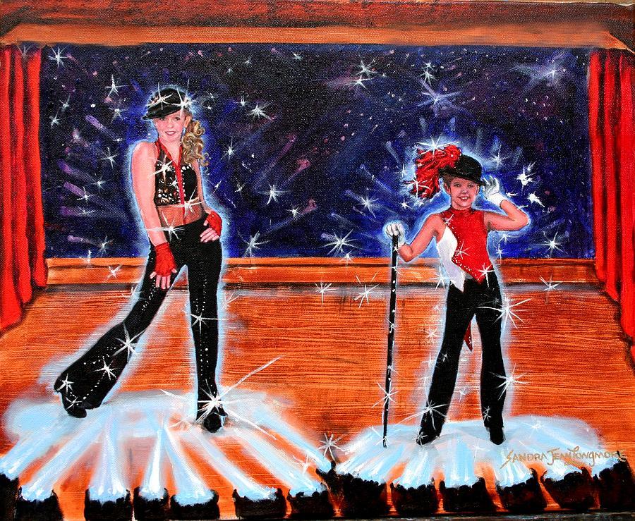 Artist Painting - Cd Cover Design Jazz Dancers by Sandra Longmore