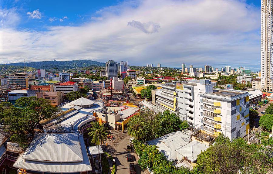 Cebu City Mountain View Panorama Photograph