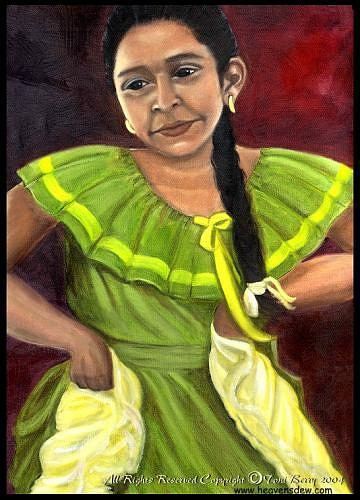 Cecelia Painting by Toni Berry