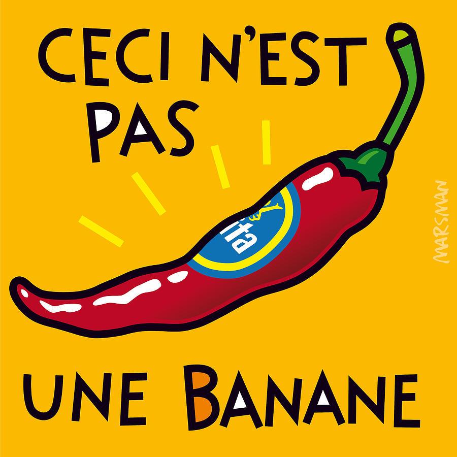 Ceci N\'est Pas Une Banane Painting by Jean-Paul Marsman