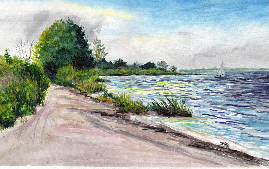 Cedar Beach Morning by Clara Sue Beym