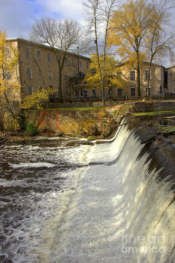 Cedarburg Photograph - Cedar Creek Dam by Carol Komassa