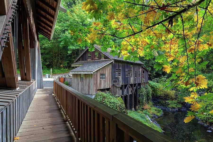 Cedar Creek Photograph - Cedar Creek Grist Mill by David Gn