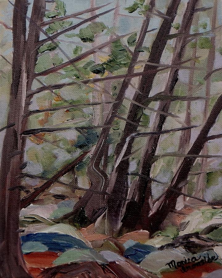 Original Painting - Cedar Forest by Monica Ironside