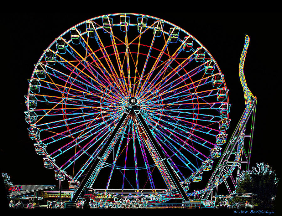 cedar pointe ferris wheel photograph by bill