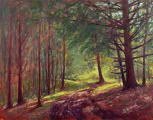 Landscape Painting - Cedar Ridge Woods by Joe Kazimierczyk