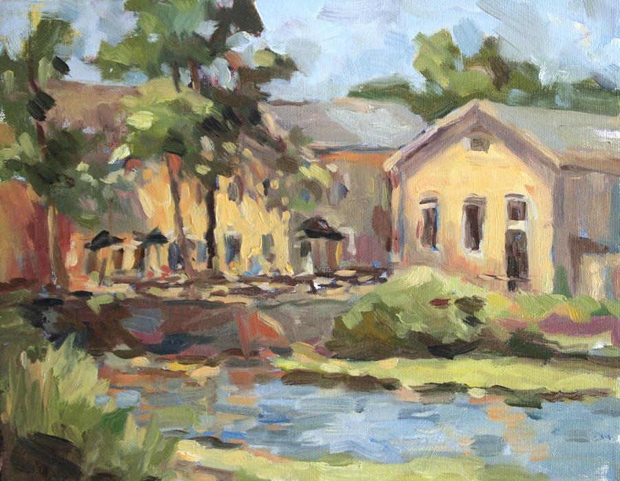 Cedarburg Wisconsin Painting - Cedarburg Mill by Jenny Anderson