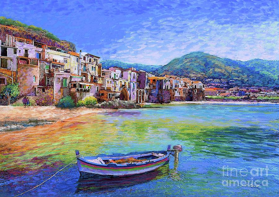 Italy Painting - Cefalu Sicily Italy by Jane Small