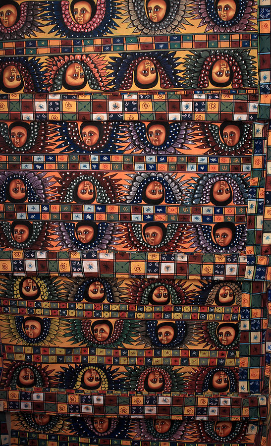 Ethiopian Photograph - Ceiling Of Angels, Abba Pantaleon Monastery  by Aidan Moran