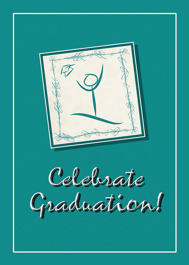 Graduation Digital Art - Celebrate Graduation Greeting Card by Kenneth Krolikowski