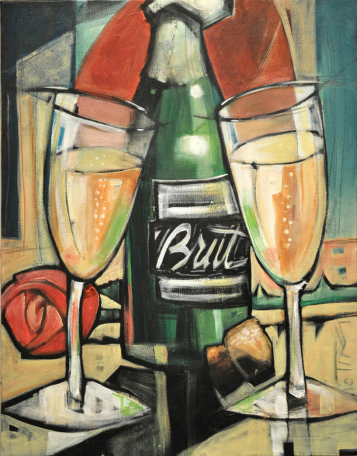 Champagne Painting - Celebrate With Bubbly by Tim Nyberg