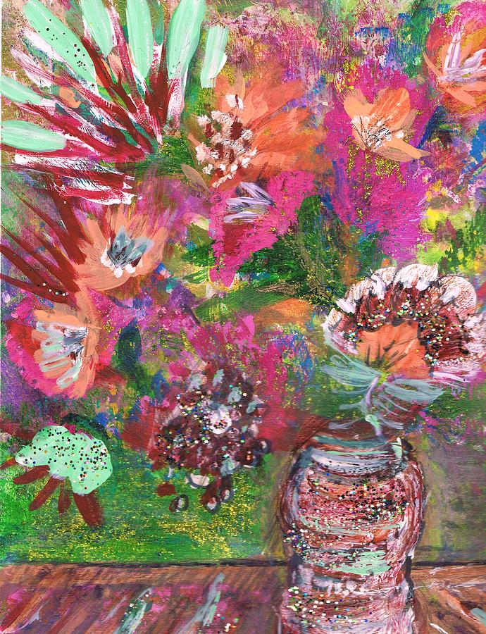 Bright Mixed Media - Celebrate Your Life by Anne-Elizabeth Whiteway