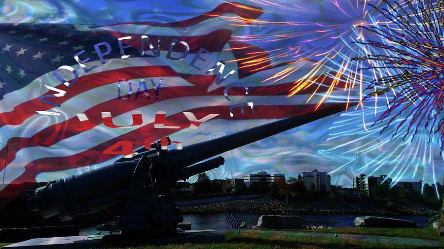 Celebrating Independence-fourth Of July Mixed Media
