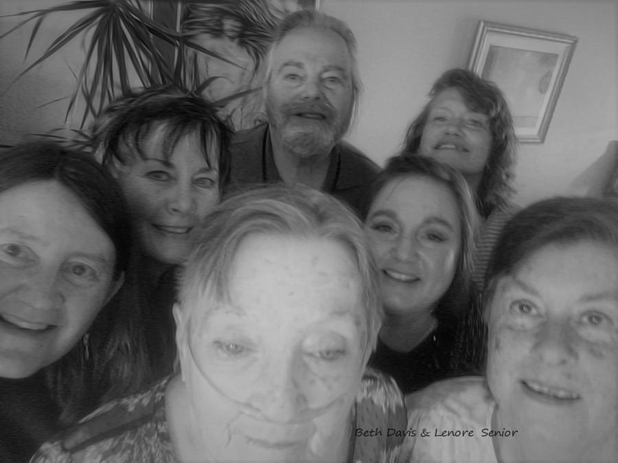 Expressive Digital Art - Celebrating With Friends by Lenore Senior
