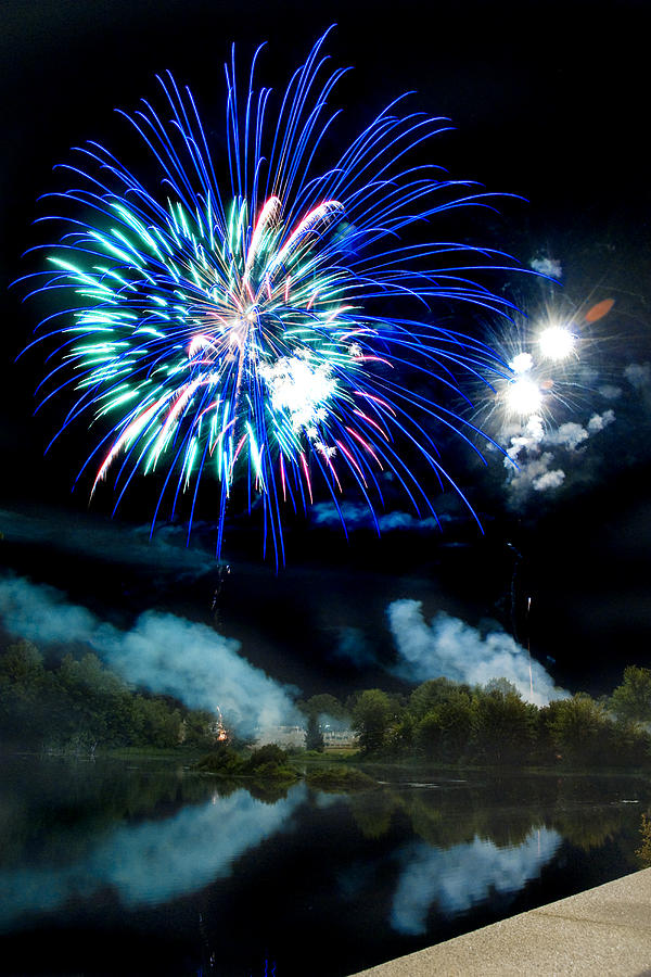 Fireworks Photograph - Celebration II by Greg Fortier