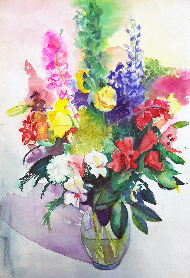 Flowers Painting - Celebration by Lynne Atwood