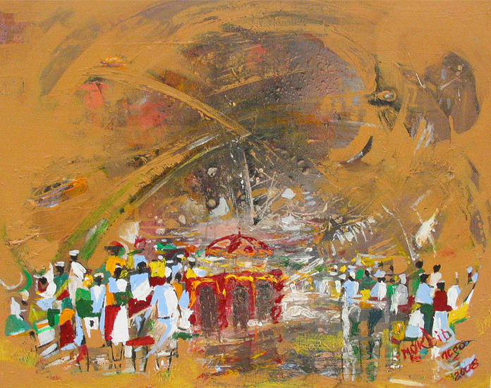Celebration Painting - Celebration  by Mekbib Geberstadik