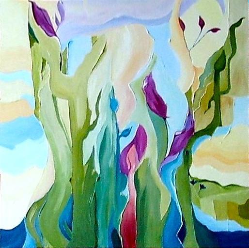Landscape Painting - Celebration Of Spring by Carola Ann-Margret Forsberg