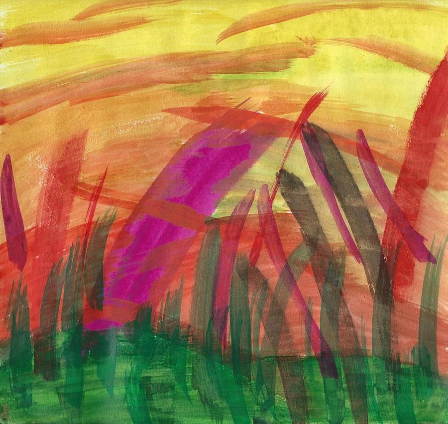 Abstract Painting - Celebration Of Spring by Susan Schanerman