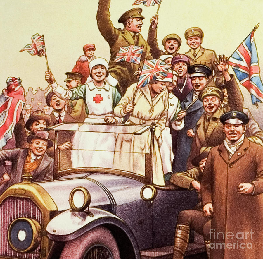 Wwi Painting - Celebrations Post World War I by Pat Nicolle