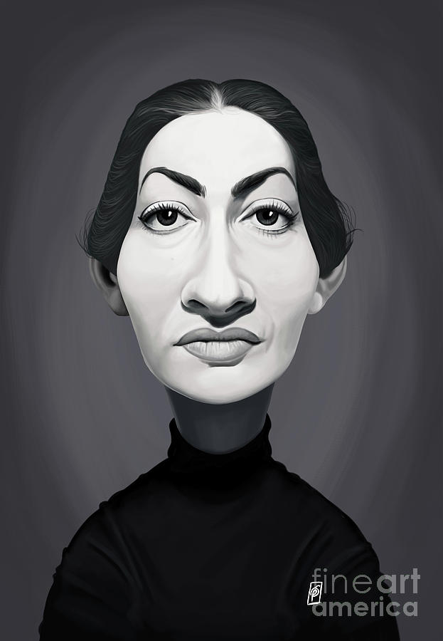 Celebrity Sunday - Maria Callas by Rob Snow