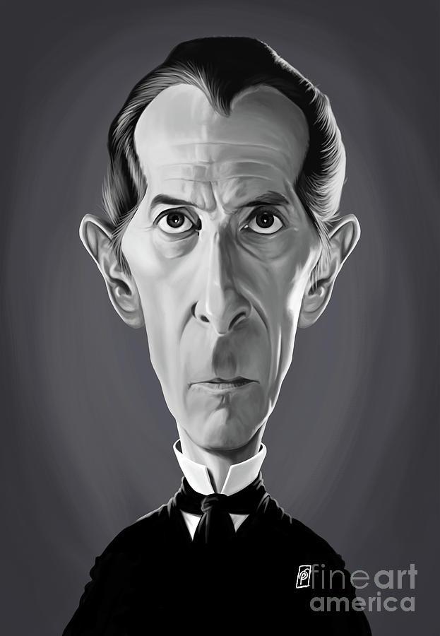 Illustration Digital Art - Celebrity Sunday - Peter Cushing by Rob Snow
