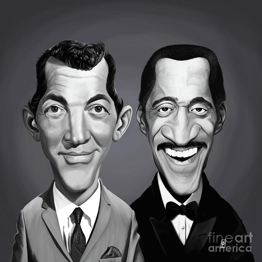 Celebrity Sunday - Sammy Davis Jnr and Dean Martin by Rob Snow