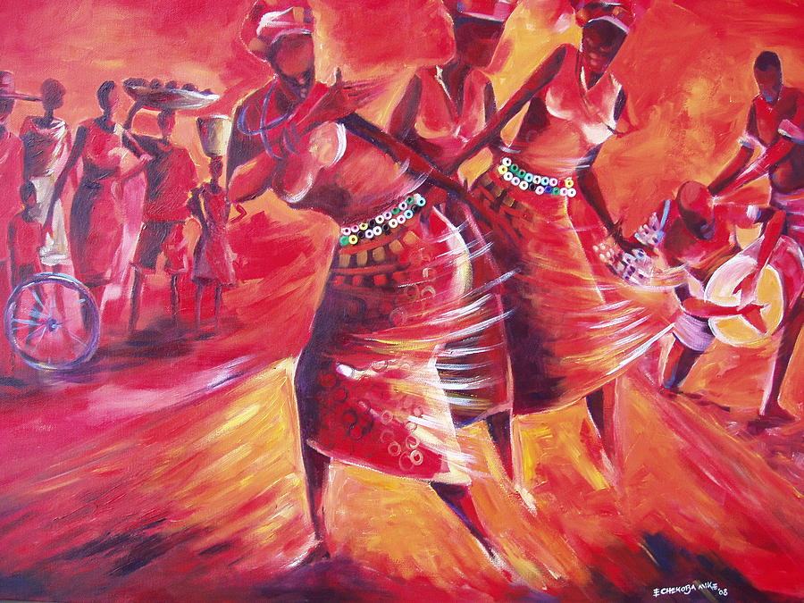 Celebration Painting - Celeration by Michael Echekoba