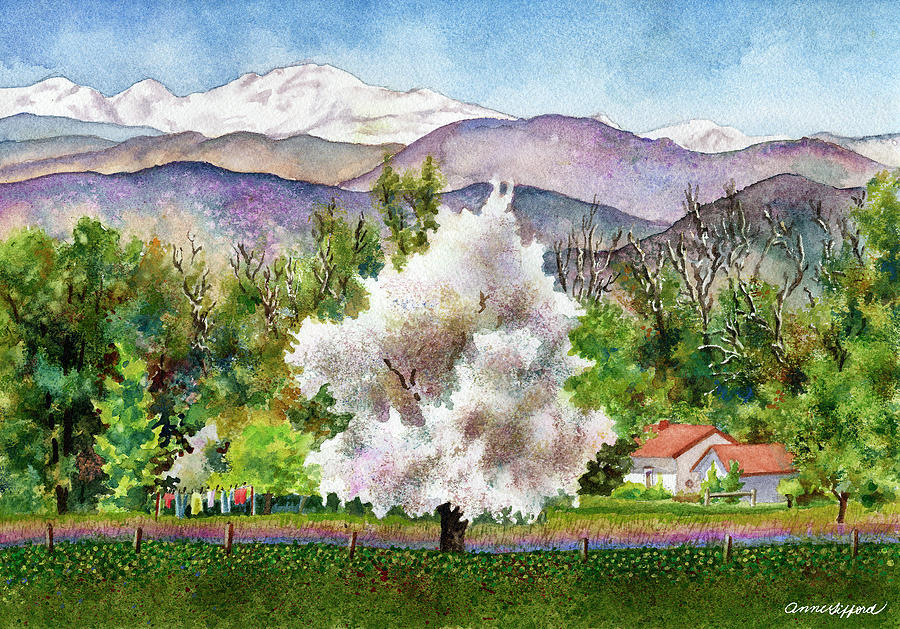 Celestes Farm Painting by Anne Gifford