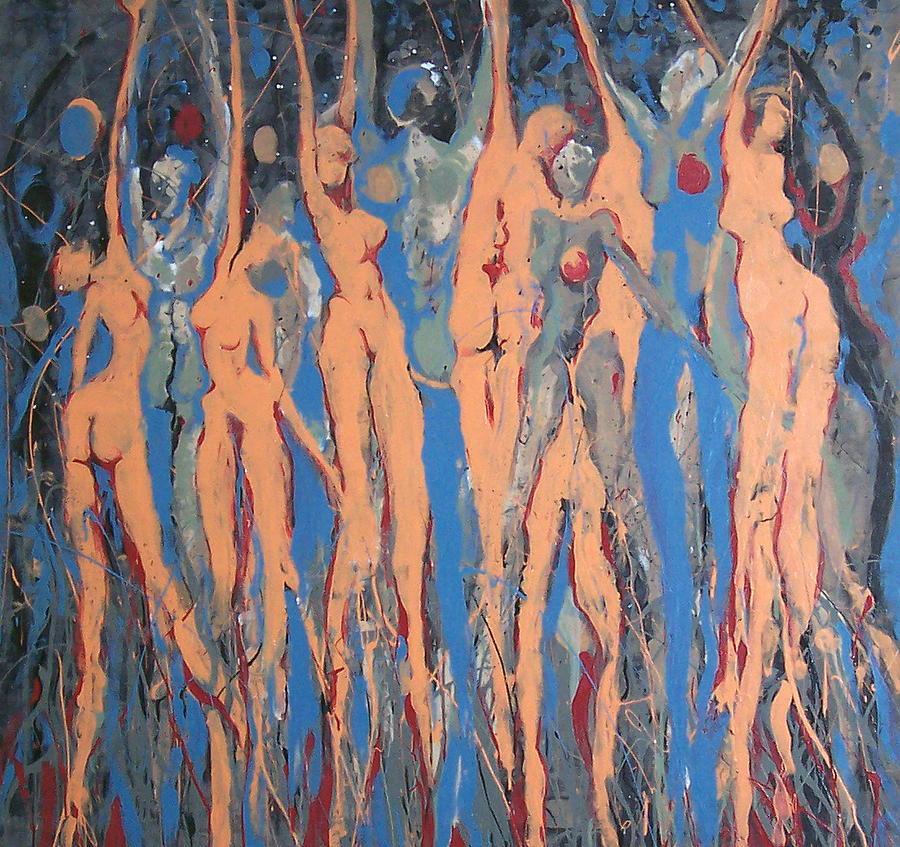 Figure Painting - Celestial Bodies by Daniel Johnson