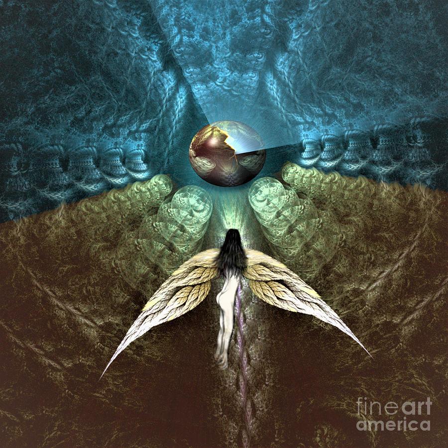 Copyright Digital Art - Celestial Cavern by Vincent Autenrieb