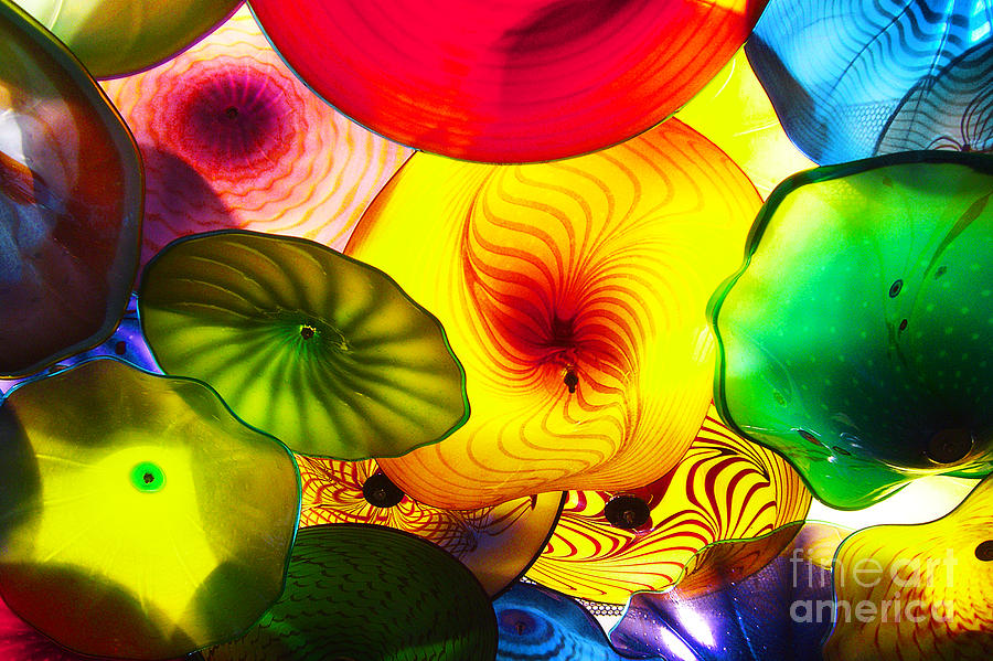 Glass Photograph - Celestial Glass 2 by Xueling Zou