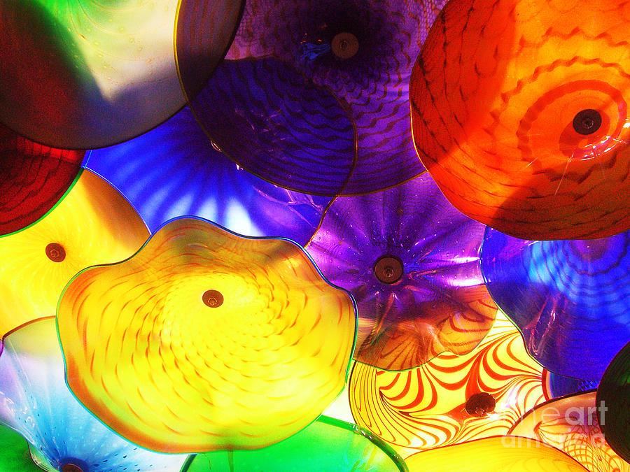 Glass Photograph - Celestial Glass 3 by Xueling Zou