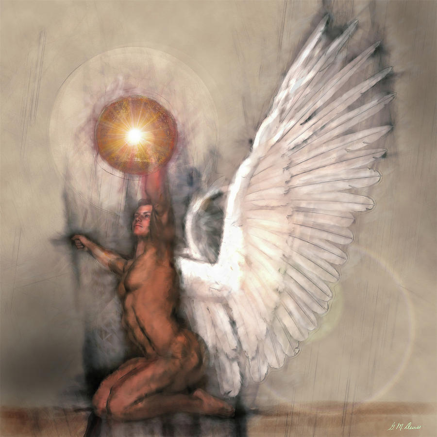 Angel Mixed Media - Celestial Glory by Michael Durst