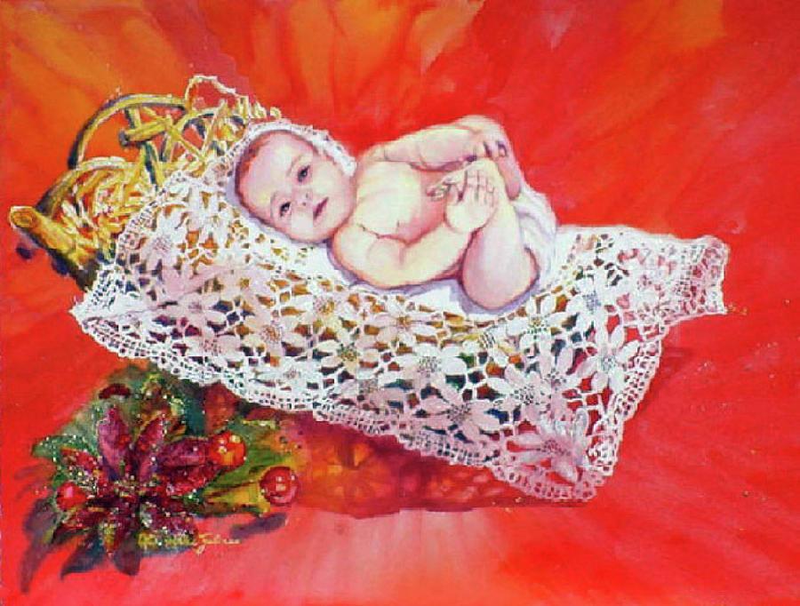 Watercolor Painting - Celestial Grace by Estela Robles