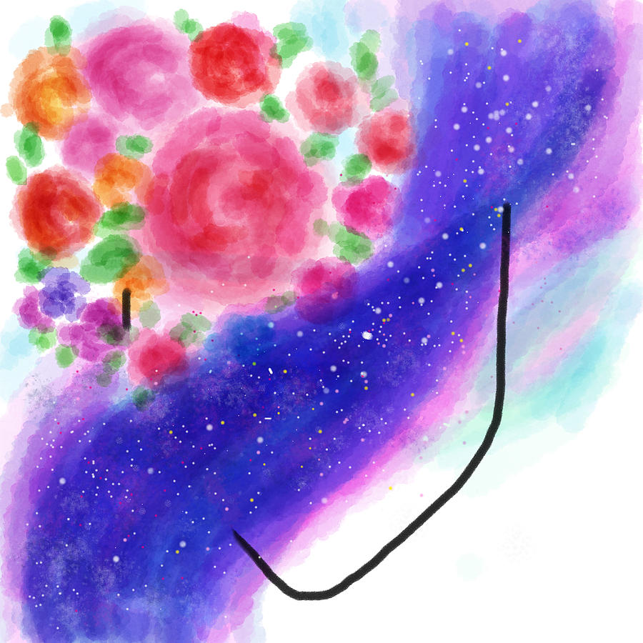 Celestial Her Digital Art by Priti Gokani