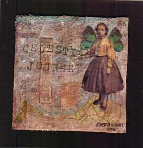 Assemblage Mixed Media - Celestial Journey by Cheryl Strait