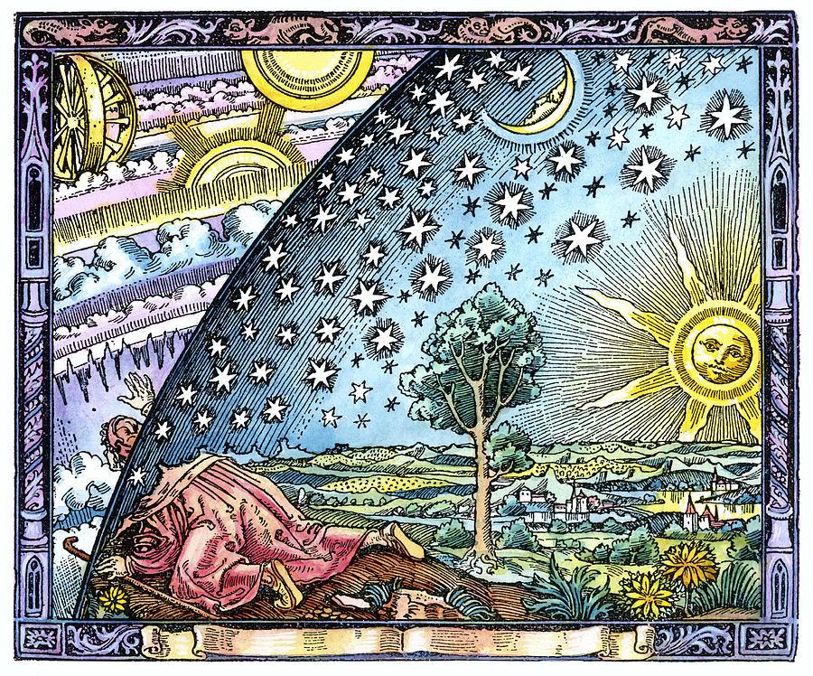 Moon Photograph - Celestial Mechanics, Medieval Artwork by Detlev Van Ravenswaay