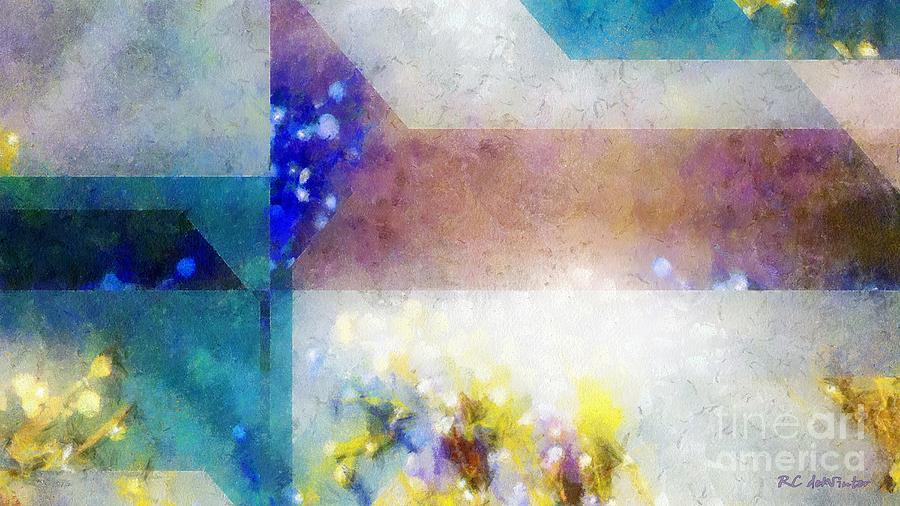 Abstract Painting - Celestial Navigation by RC DeWinter