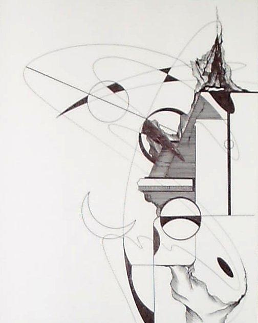 Abstract Drawing - Celestial Pyramid by Charles Durbin