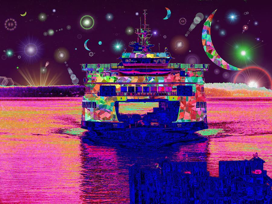 Celestial Digital Art - Celestial Sailing by Tim Allen