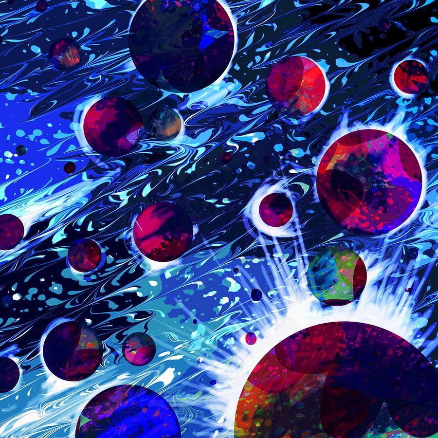 Abstract Digital Art - Celestial Sounds by Rachel Christine Nowicki