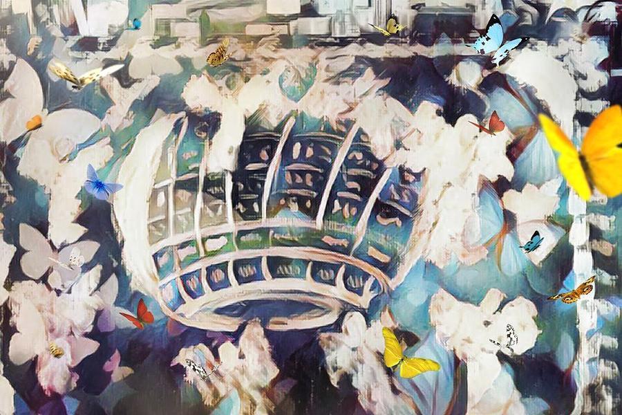 Angels Painting - Celestial Travels by Joan Hangarter