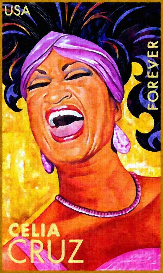 Celia Cruz Painting By Lanjee Chee