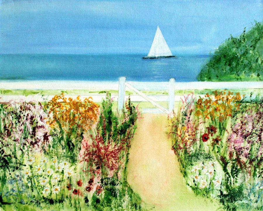 Landscape Painting - Celia Thaxter by Michela Akers