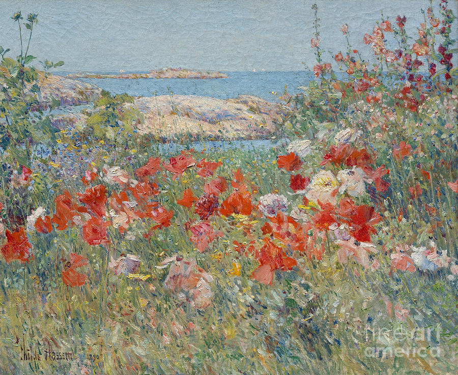 Childe Hassam Painting - Celia Thaxters Garden, Isles Of Shoals, Maine, 1890 by Childe Hassam
