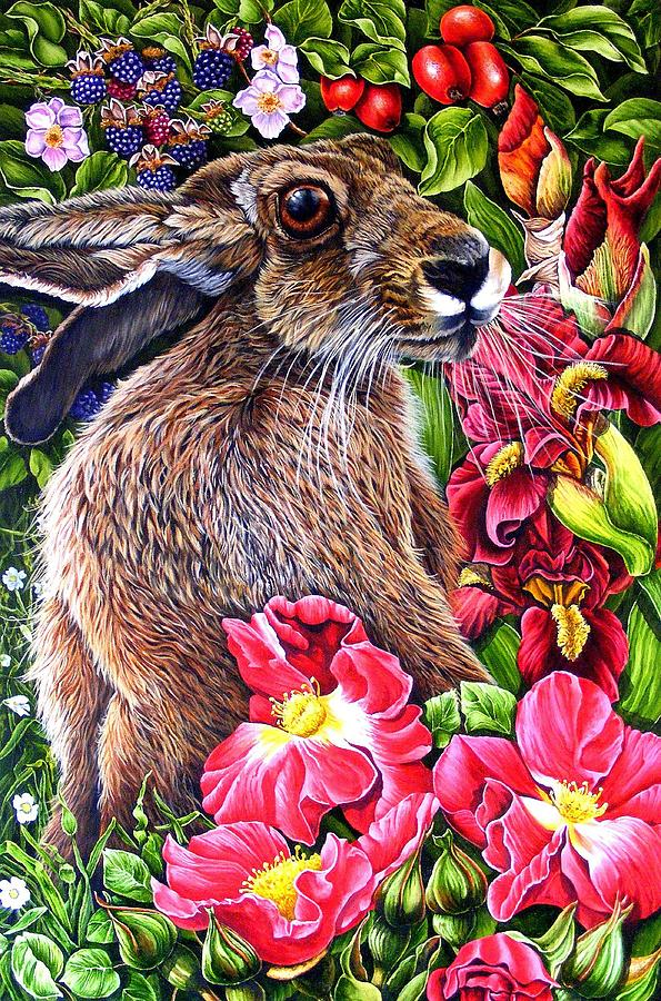 Hare Painting - Celibration by Donald Dean