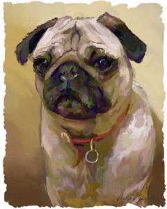 Pug Digital Art - Celie by Gloria Vestring